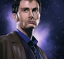 Tenth Doctor Portrait Fan Art Print by sugarpoultry