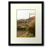 late afternoon countryside japan Framed Print