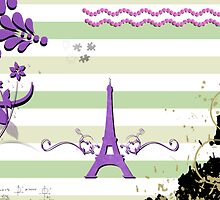 Memories from Paris - Green, Purple, White  by sitnica