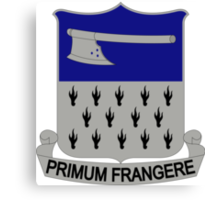 271st Infantry Regiment - Primum Frangere - First To Cleave Canvas Print