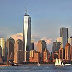 Lower Manhattan view from the Hudson River, NYC by Poete100