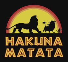 Lion King Sunset Hakuna Matata T-Shirt by xdurango