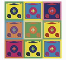 45 Record Pop Art by retrorebirth