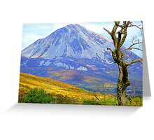 Mount Errigal In Late Summer Greeting Card