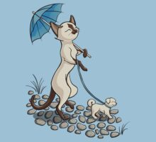 Siamese Caturday Walk in the Park by Stephanie Jayne Whitcomb