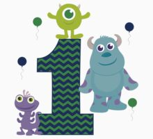 Baby Monsters Inc. 1st Birthday Boy by sweetsisters