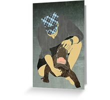 Alligator Wrestling Greeting Card