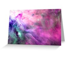 Orion Nebula [Pink Clouds] | Galaxy Mathematix Greeting Card