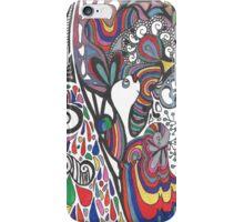 crazy bunny iPhone Case/Skin