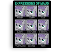 Expressions of Maud Tshirt Canvas Print