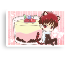 Tiger Kagami and Pudding Canvas Print