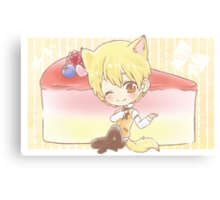 Wolf Kise and Cheesecake Canvas Print