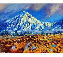 Mountain Painting Fine Art by Ekaterina Chernova Photographic Print