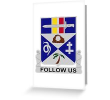 293rd Infantry Regiment - Follow Us Greeting Card