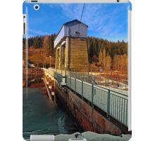Hydropower station in winter wonderland | architectural photography iPad Case/Skin
