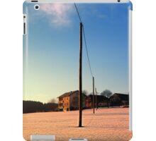 Powerline, sundown and winter wonderland | landscape photography iPad Case/Skin