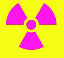 Radioactive Hazard trefoil symbol in magenta & yellow by TOM HILL - Designer