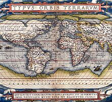 1564 World Map by Ortelius by Pablo Romero