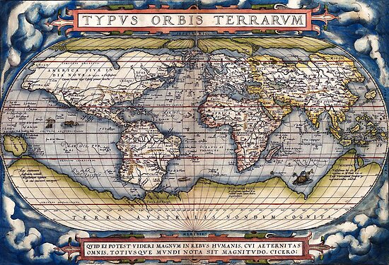 1564 World Map by Ortelius by paulrommer