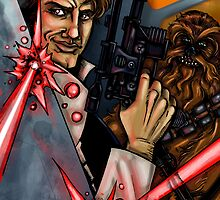 Han Solo and Chewbacca by WarpZoneGraphic