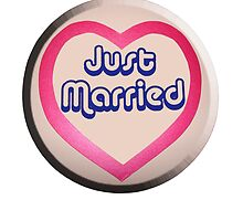 JUST MARRIED WEDDING LOVE HEART by TOM HILL - Designer