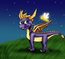 Spyro and Sparx by lauramonaghan