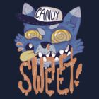 candy cat (blue + orange) by skinnymister