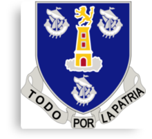 295th Infantry Regiment - Todo Por Patria - All For The Country Canvas Print