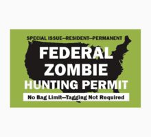 Federal/United States Zombie Hunting Permit by Framerkat