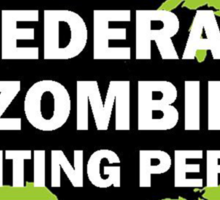 Federal/United States Zombie Hunting Permit Sticker