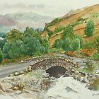 Ashness Bridge, Lake District, Cumbria by Lynne  Kirby