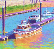 Impressionist boats by fineline