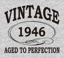 vintage 1946 aged to perfection by diannasdesign