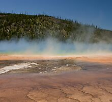 Grand Prismatic Spring at Midway Geyser Basin by Spencer Dickson