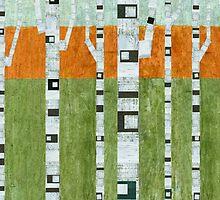 Birches in Spring by Michelle Calkins