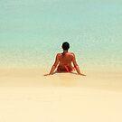 Chilling on a beach - Bora Bora by Honor Kyne