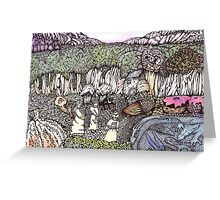The Meeting of the Three Sisters Greeting Card