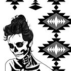Lady Skull aztec by aureliescour