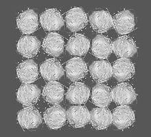 nesting | white on grey by Terri Bell