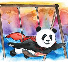 Panda Superman by gabrielart