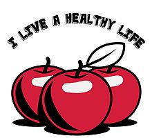 Healthy living apples fruit by Motiv-Lady