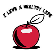 Healthy living Apple fruit by Motiv-Lady