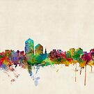 Albuquerque New Mexico Skyline by ArtPrints