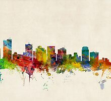 Phoenix Arizona Skyline Cityscape by ArtPrints