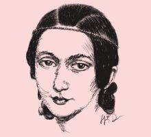 Clara Schumann drawing in black Kids Clothes