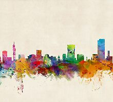 Pretoria South Africa Skyline by ArtPrints