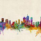 Brisbane Australia Skyline Cityscape by Michael Tompsett