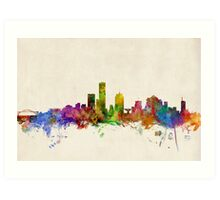 Milwaukee Wisconsin Skyline Cityscape Art Print