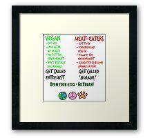Open Your Eyes - Go Vegan! Framed Print