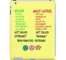 Open Your Eyes - Go Vegan! iPad Case/Skin